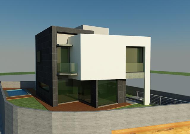 Vivienda Nestor y Mapi. Parcela en esquina de 250 m2
